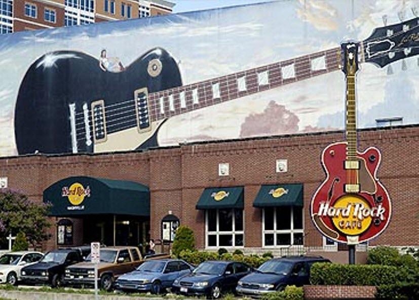 Hard Rock Cafe downtown Nashville